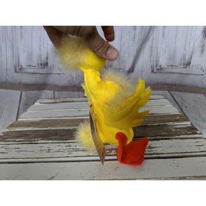 Annalee Holiday - Vtg Annalee Doll Easter Yellow Feathery 8″ FLUFFY